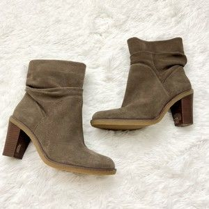 Vince Camuto Parka Suede Slouch Booties 9.5 Taupe